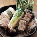 岩崎政利さんの花芯白菜。それと生麹、黒千石、炒り大豆他@国分寺カフェスロー